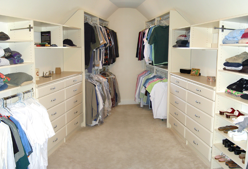 Attic closet conversion roselawnlutheran for Cape cod closets